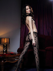 Zsanett Tormay in black pantyhose